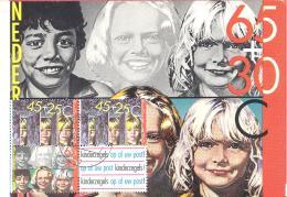 Nederland  Kinderpostzegels 1981  Maximum Kaart Mit 4-er Block - Maximum Cards