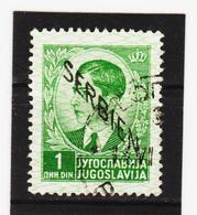 AUA1075 SERBIEN 1941  Michl 3 Gestempelt / Entwertet ZÄHNUNG SIEHE ABBILDUNG - Besetzungen 1938-45