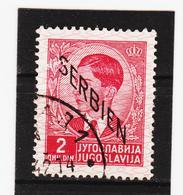 AUA1076 SERBIEN 1941  Michl 5 Gestempelt / Entwertet ZÄHNUNG SIEHE ABBILDUNG - Besetzungen 1938-45
