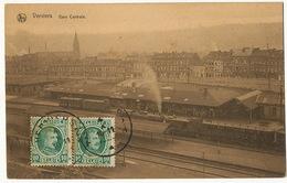 Verviers Gare Centrale Station Nels P. Used H. Marcowitz Deltiology Postcard Club To Guantanamo Cuba - Verviers