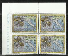 CITTA DEL VATICANO VATIKAN VATICAN 1985 RATIFICA ACCORDO CONCORDATO  CONCORDAT CONVENUES MNH - Vaticano