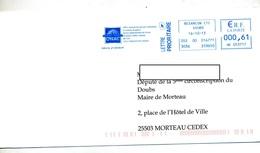 Lettre Flamme Ema Besançon Office Onac Ancien Combattant - Marcophilie (Lettres)