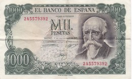 Billet : ESPAGNE . MIL 1000 PESETAS . 17/09/1971 . SERIE N° 2A5579392 / TBE - [ 3] 1936-1975 : Régence De Franco