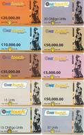 10 Cartes Prépayées GHANA Lot6 - Ghana