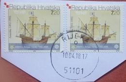 SHIPS-7.20 K-KARAKA-DUBROVNIK-EUROPA 50 ANNIV.-POSTMARK RIJEKA-FIUME-CROATIA-2005 - Europa-CEPT