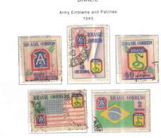 Brasile PO 1945 Armi Emblema      Scott.635/639+ See Scan On Scott.Page - Brasile