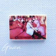 Feve Peintre Toulouse Lautrec Salon Tableau Peinture Musée Art Miniature - Charms