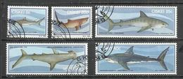 CISKEI 1983 - SHARKS - CPL. SET - OBLITERE USED GESTEMPELT USADO - Fishes
