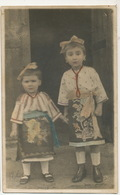 Real Photo  Hand Colored Children  Traditional Costume - Roumanie