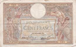 Billet De 100 Francs Type MERSON 14/09/1939 / RARE - 100 F 1908-1939 ''Luc Olivier Merson''
