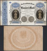 Deutschland - Altdeutsche Staaten: Offset Gedruckter Foto-Entwurf Von Vorder- Und Rückseite Der 100- - [ 1] …-1871 : Stati Tedeschi