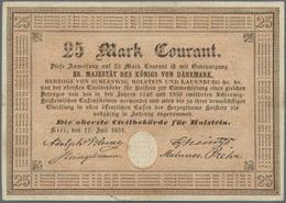 Deutschland - Altdeutsche Staaten: Sehr Seltene Banknote Zu 25 Mark Courant 1851 Der Obersten Zivilb - [ 1] …-1871 : Stati Tedeschi
