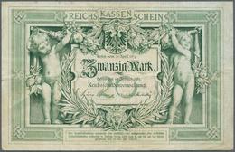 Deutschland - Deutsches Reich Bis 1945: 20 Mark 1882, Ro.7 In Schöner, Sauberer Gebrauchserhaltung M - [ 4] 1933-1945 : Terzo  Reich