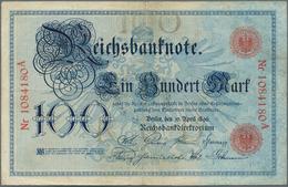 Deutschland - Deutsches Reich Bis 1945: 100 Reichsmark 1896 Ro 15, In Gebrauchter Erhaltung Mit Waag - [ 4] 1933-1945 : Terzo  Reich
