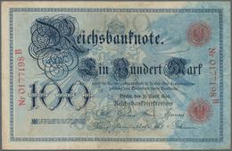 Deutschland - Deutsches Reich Bis 1945: 100 Mark 1896, Ro.15, Mehrere Knicke, Kleine Flecken Und Win - [ 4] 1933-1945 : Terzo  Reich