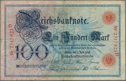 Deutschland - Deutsches Reich Bis 1945: Set Mit 4 Noten 100 Mark 1898 Ro.17 In F-, 100 Mark 1903 Ro. - [ 4] 1933-1945 : Terzo  Reich