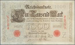 Deutschland - Deutsches Reich Bis 1945: 1000 Mark 1898, Ro.18, Sehr Schöne Saubere Note Mit Einigen - [ 4] 1933-1945 : Terzo  Reich