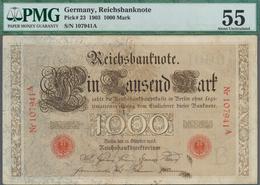 Deutschland - Deutsches Reich Bis 1945: 1000 Reichsmark 1910 Ro 21 In Erhaltung: PMG Graded 55 AUNC. - [ 4] 1933-1945 : Terzo  Reich