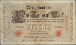 Deutschland - Deutsches Reich Bis 1945: 1000 Mark 1903, Ro.21, Stärker Gebraucht Mit Kleinem Einriss - [ 4] 1933-1945 : Terzo  Reich