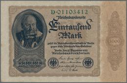 Deutschland - Deutsches Reich Bis 1945: 1000 Mark 1922, Reichsdruck, Ro.81a, Kleine Flecken Am Linke - [ 4] 1933-1945 : Terzo  Reich
