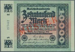 Deutschland - Deutsches Reich Bis 1945: 10.000 Mark 1923 Mit Regulärer Seriennummer Und Rotem Überdr - [ 4] 1933-1945 : Terzo  Reich