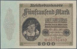Deutschland - Deutsches Reich Bis 1945: 5000 Mark 1923, Nicht Verausgabt, Ro.86, Kassenfrisch Aus Or - [ 4] 1933-1945 : Terzo  Reich