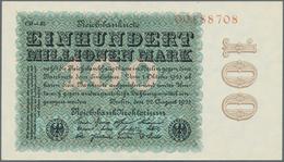 Deutschland - Deutsches Reich Bis 1945: 100 Millionen Mark 1923 Ro 106r Mit Leichtem Eckbug, Ansonst - [ 4] 1933-1945 : Terzo  Reich