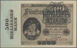 Deutschland - Deutsches Reich Bis 1945: 500 Milliarden Mark Überdruck Auf 5000 Mark 1923, Ro.121a, L - [ 4] 1933-1945 : Terzo  Reich