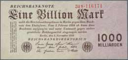 Deutschland - Deutsches Reich Bis 1945: 1 Billion Mark 1923, Ro.126b, Mehrere Knicke Und Kleinere Fl - [ 4] 1933-1945 : Terzo  Reich