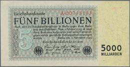 Deutschland - Deutsches Reich Bis 1945: 5 Billionen Reichsmark 1923 Ro 127a, Mit Leichter Mittelfalt - [ 4] 1933-1945 : Terzo  Reich