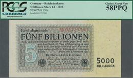 Deutschland - Deutsches Reich Bis 1945: 5 Billionen Reichsmark 1923 Ro 127a In Erhaltung: PCGS Gegra - [ 4] 1933-1945 : Terzo  Reich