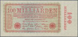 Deutschland - Deutsches Reich Bis 1945: 100 Milliarden Mark 1923, FZ: AN, Ro.130a, Leichter Diagonal - [ 4] 1933-1945 : Terzo  Reich