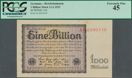 Deutschland - Deutsches Reich Bis 1945: 1 Billion Mark 1923, Ro.131a Mit Kleineren Knicken Und Fleck - [ 4] 1933-1945 : Terzo  Reich