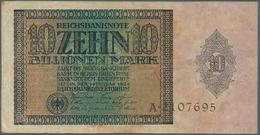 Deutschland - Deutsches Reich Bis 1945: 10 Billionen Mark 1924, Ro.134, Stärker Gebraucht Mit Flecke - [ 4] 1933-1945 : Terzo  Reich