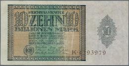 Deutschland - Deutsches Reich Bis 1945: 10 Billionen Mark 1924, Ro.134, Stärker Gebraucht Und Geschö - [ 4] 1933-1945 : Terzo  Reich