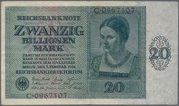 Deutschland - Deutsches Reich Bis 1945: 20 Billionen Mark 1924, Ro.135, Gebraucht Mit Mehreren Knick - [ 4] 1933-1945 : Terzo  Reich