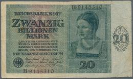 Deutschland - Deutsches Reich Bis 1945: 20 Billionen Mark 1924, Ro.135 In Stark Gebrauchter Erhaltun - [ 4] 1933-1945 : Terzo  Reich