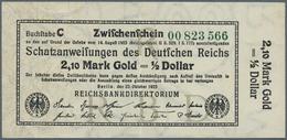 Deutschland - Deutsches Reich Bis 1945: Zwischenschein Der Schatzanweisung Der Reichsbank Zu 2,10 Ma - [ 4] 1933-1945 : Terzo  Reich