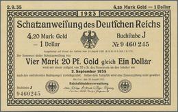 Deutschland - Deutsches Reich Bis 1945: Wertbeständiges Notgeld Schatzanweisung 4,20 Mark Gold = 1 D - [ 4] 1933-1945 : Terzo  Reich