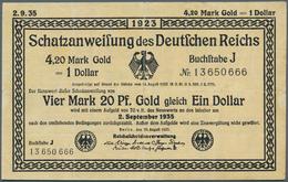 Deutschland - Deutsches Reich Bis 1945: Schatzanweisung Der Reichsschuldenverwaltung über 4,20 Mark - [ 4] 1933-1945 : Terzo  Reich