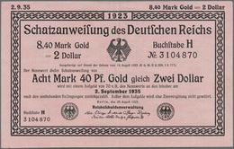Deutschland - Deutsches Reich Bis 1945: Wertbeständiges Notgeld Schatzanweisung 8,40 Mark Gold = 2 D - [ 4] 1933-1945 : Terzo  Reich