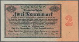 Deutschland - Deutsches Reich Bis 1945: 2 Rentenmark 1923, Ro.155, Leicht Gebraucht Mit Einigen Leic - [ 4] 1933-1945 : Terzo  Reich