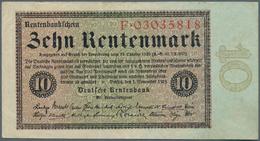 Deutschland - Deutsches Reich Bis 1945: 10 Rentenmark 1923, Ro.157 In Hübscher Gebrauchserhaltung Mi - [ 4] 1933-1945 : Terzo  Reich