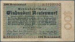 Deutschland - Deutsches Reich Bis 1945: 100 Rentenmark 1923, Ro.159 In Stärker Gebrauchter Erhaltung - [ 4] 1933-1945 : Terzo  Reich