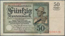 Deutschland - Deutsches Reich Bis 1945: 50 Rentenmark 1925, Ro.162 In Stärker Gebrauchter Erhaltung - [ 4] 1933-1945 : Terzo  Reich