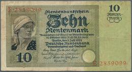 Deutschland - Deutsches Reich Bis 1945: 10 Rentenmark 1925, Ro.163 In Stärker Gebrauchter Erhaltung - [ 4] 1933-1945 : Terzo  Reich
