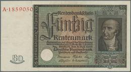 Deutschland - Deutsches Reich Bis 1945: 50 Rentenmark 1934 Ro 165, Leicht Gebraucht Mit Leichter Hor - [ 4] 1933-1945 : Terzo  Reich