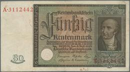 Deutschland - Deutsches Reich Bis 1945: 50 Rentenmark 1934, Ro.165, Gebraucht Mit Flecken Und Mehrer - [ 4] 1933-1945 : Terzo  Reich