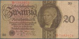 Deutschland - Deutsches Reich Bis 1945: 20 Reichsmark 1924 (Holbein-Serie), Ro.169, Stärker Gebrauch - [ 4] 1933-1945 : Terzo  Reich