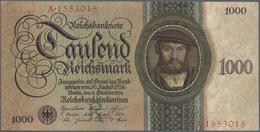 Deutschland - Deutsches Reich Bis 1945: 1000 Reichsmark 1924 (Holbein-Serie), Ro.172a, Leichter Mitt - [ 4] 1933-1945 : Terzo  Reich
